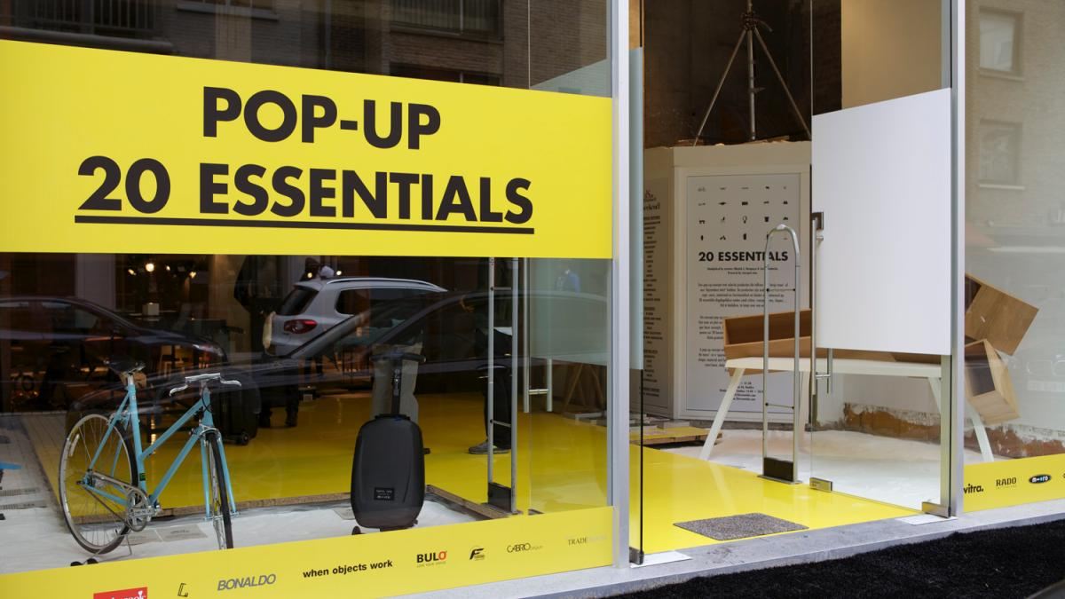"20 Essentials <br class=""hidden-xs"" /> A concept pop-up store"